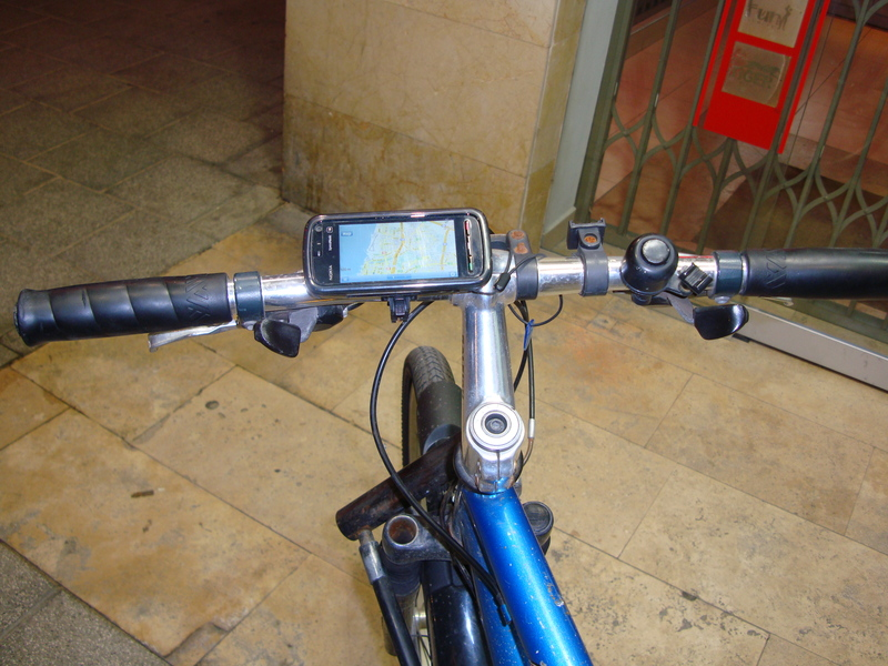 MGMaps on my phone, on my bike